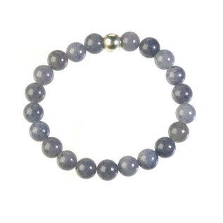 Aventurijn (blauw) armband 20 cm | 8 mm kralen
