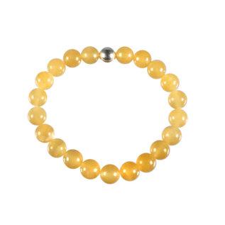 Calciet (oranje) armband 18 cm | 8 mm kralen