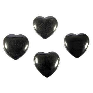 Hematiet edelsteen hart 3 cm