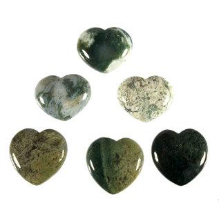 Mosagaat edelsteen hart 3 cm