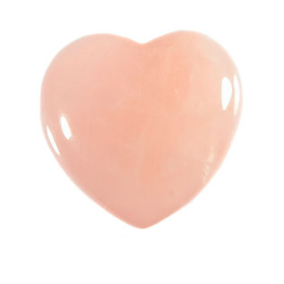 Rozenkwarts edelsteen hart 4 cm