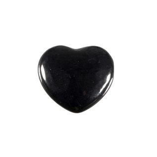 Shungiet edelsteen hart 2,5 cm