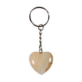 Agaat sleutelhanger hart