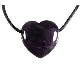 Amethist (donker) hanger hart doorboord