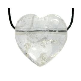 Bergkristal hanger hart doorboord