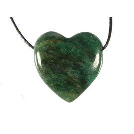 Fuchsiet hanger hart doorboord