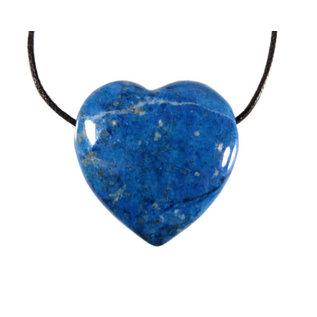 Lapis lazuli hanger hart doorboord