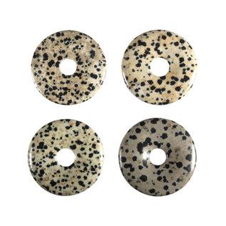 Jaspis (dalmatier) hanger donut 4 cm