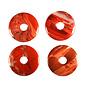 Jaspis (rood) hanger donut 4 cm