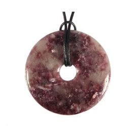 Lepidoliet hanger donut 4 cm