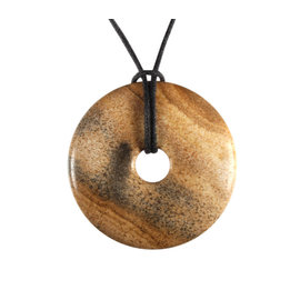 Jaspis (landschap) hanger donut 4 cm