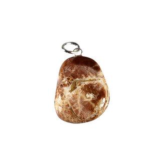 Thunderegg of amulet steen hanger met zilveren oogje