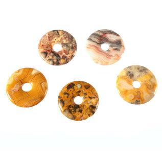 Agaat (kant) hanger donut 3 cm