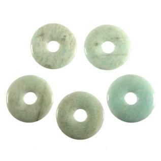 Amazoniet hanger donut 3 cm