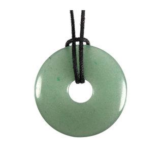 Aventurijn (groen) hanger donut 3 cm