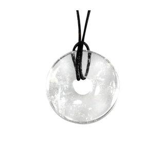 Bergkristal A-kwaliteit hanger donut 3 cm
