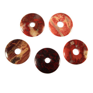 Jaspis (breccie) hanger donut 3 cm