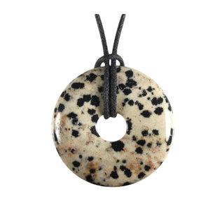 Jaspis (dalmatier) hanger donut 3 cm