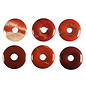 Jaspis (rood) hanger donut 3 cm