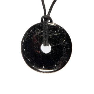 Toermalijn (zwart) B-kwaliteit hanger donut 3 cm