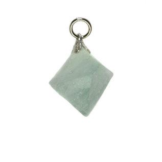 Fluoriet (groen) hanger octaeder