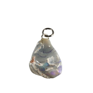 Opaal (edel) hanger getrommeld