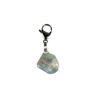 Halsband hanger aquamarijn klein