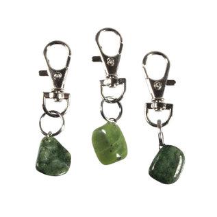 Halsband hanger jade groot
