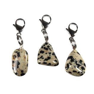 Halsband hanger jaspis (dalmatier) klein