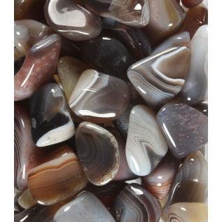 Agaat (Botswana) grijs trommelstenen M (50 gram)