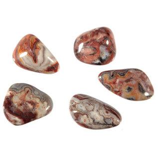 Agaat (kant) trommelstenen S (50 gram)