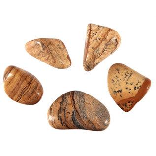 Jaspis (landschap) trommelstenen M (50 gram)
