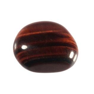 Tijgeroog (rood) trommelstenen M (50 gram)