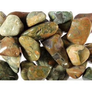 Jaspis (regenwoud) trommelstenen S (50 gram)