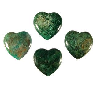 Fuchsiet edelsteen hart 4 cm