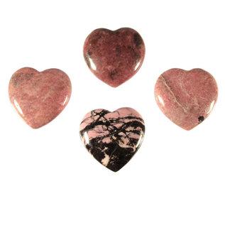 Rhodoniet edelsteen hart 4 cm