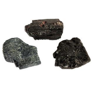 Toermalijn (zwart) ruw maat 4 (500 gram)