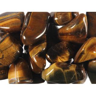 Tijgeroog trommelstenen M (50 gram)