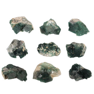 Fluoriet (groen) clusters maat 6 (per stuk)