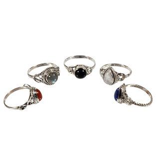 Set van 5 zilveren ringen (5-1)