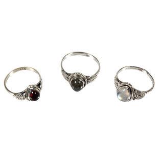 Set van 3 zilveren ringen (3-1)