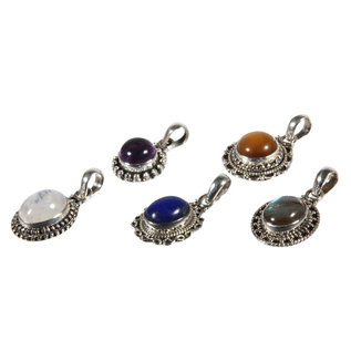 Set van 5 zilveren hangers (5-1)
