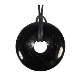 Toermalijn (zwart) hanger donut 3 cm