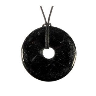Toermalijn (zwart) hanger donut 4 cm