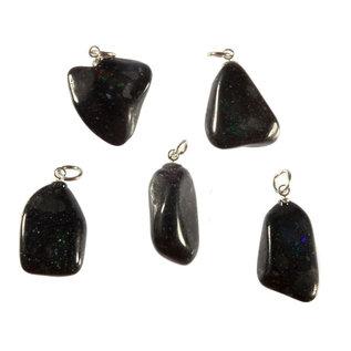 Opaal (zwart) hanger