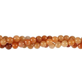 Aventurijn (rood) kralen rond 6 mm (streng van 40 cm)