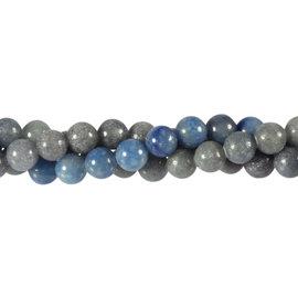 Aventurijn (blauw) kralen rond 8 mm (streng van 40 cm)