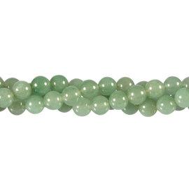 Aventurijn (groen) kralen rond 8 mm (streng van 40 cm)