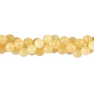 Calciet (geel) kralen rond 8 mm (streng van 40 cm)