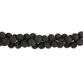 Lavasteen kralen rond 6 mm (streng van 40 cm)